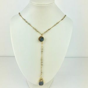 Panacea Double Stone Drusy Necklace Layered